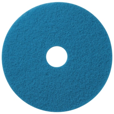 "Americo Floor Cleaning Pads, Blue, 16"", 5/CS AMERICO  FLOOR PADS"