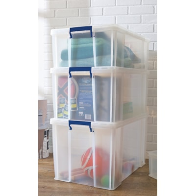 Bankers Box Plastic Storage Box, Clear, Small/1.7 L 1.7 L HOLD SMALL ITEMS