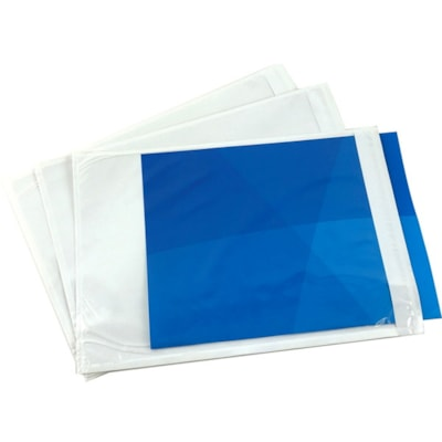 """Edge Packing List Envelopes, Clear, 7"""" x 10"""", Carton of 1,000 1000/CT"""