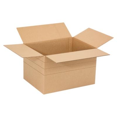 "Edge Multi-Depth 10"" x 10"" x 10"" Corrugated Shipping Cartons, Plain Brown Kraft, 25/PK AT 8""  6"" KRAFT 32C  25/BUNDLE"