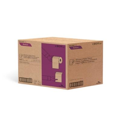 "Cascades PRO Select 1-Ply Standard Bathroom Tissue Rolls, White, 1,000 Sheets/RL, 48/CS (4 1/4"" x 3 4/5"" per sheet) 1000 SHEETS  1 PLY  4.25X3.8 CASCADES PRO SELECT"
