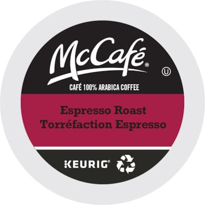 McCafé Single-Serve Coffee K-Cup Pods, Espresso Roast, Box of 24 24/BOX