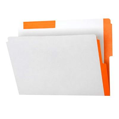 Pendaflex Top & End Tab Shelf Folders with Colour Stripes 10-1/2 PT FULLY BLEACHED KRAFT 1/2 TAB  10% PCW