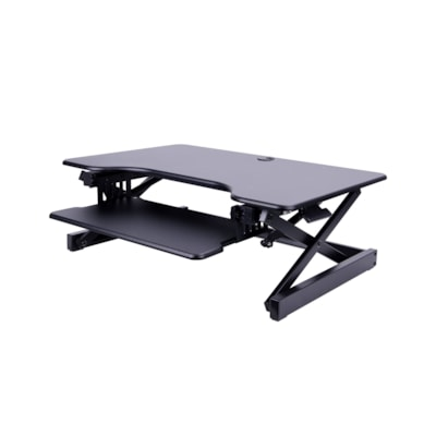 "Rocelco 32"" Sit-to-Stand Desk Riser, Black esk Riser"