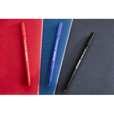 Paper Mate Write Bros Ballpoint Pens, Red, Fine Point 0.8 mm, 12/BX