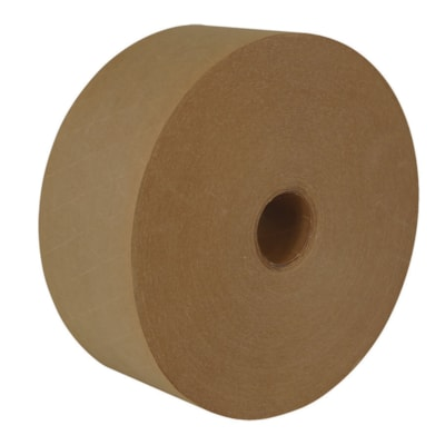 IPG Reinforced Gummed Tape, Natural Kraft, 70 mm x 600', Carton of 10 REINFORCED KRAFT