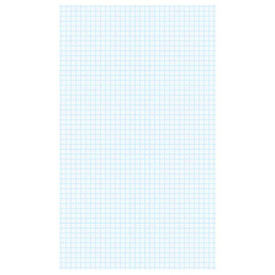 "Hilroy Economy Legal-Size Pad WHITE PAPER  GRAPH RULING 4:1"" 4 SQUARES TO 1"" MADE IN CANADA"