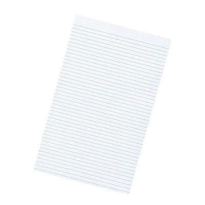 "Hilroy Economy Legal-Size Pad WHITE PAPER 5/16"" WIDE RULING 96 SHEET LEGAL"