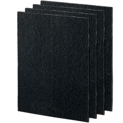 Fellowes AeraMax 190/200/DX55 Carbon Filters, Black, Pack of 4 FOR AERAMAX 190/200/DX55 CAPTRS ODORS AND LRG PARTICLES