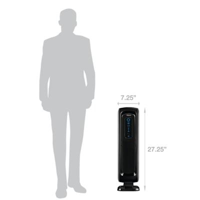 Fellowes AeraMax 90 Air Purifier, Black FOR USE IN UP TO 90 SQ FT ROOM REMOVES 99.97% AIRBORNE PARTIC