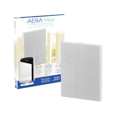Fellowes AeraMax 290/300/DX95 True HEPA Filter with AreaSafe Antimicrobial Treatment, White REMOVES 99.97% AIRBORNE PARTIC PROTECTS AGAINST ODOR GROWTH