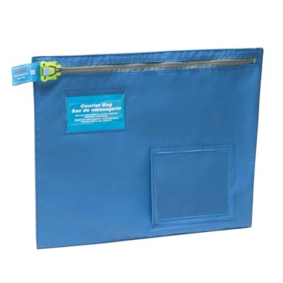 """SECURISAC Tamper Evident Courier Bag, Royal Blue, 16"""" x 12"""""""