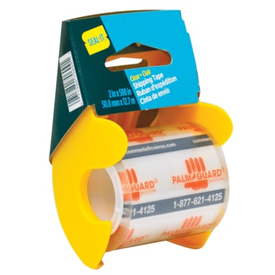 Seal-It Super Clear Shipping Tape with Palm Guard Dispenser, 50.8 mm x 12.7 m IN PALM GUARD DISPENSER