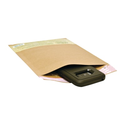 """Earth Hugger Self-Sealing Kraft Bubble Mailers, #0, 6"""" x 9"""", 25/CT SIZE 6"""" X 9""""  KRAFT  25/PK 100% RECYCLED CONTENT-50% PCW"""