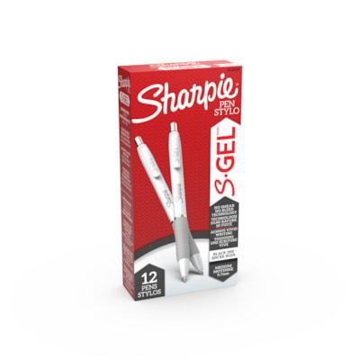 Sharpie S-Gel Ink Pens, Black, Medium 0.7 mm, Box of 12 BLACK INK