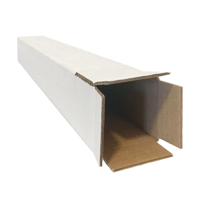 """Edge Square Mailing Tubes, White, 3"""" x 3"""" x 37"""", Pack of 10 10/PACK"""