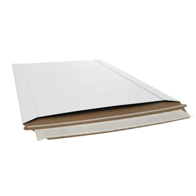 """Edge Peel and Seal 14-PT Expansion Mailers, Open Side, White, 7 3/8"""" x 9 5/8"""", Box of 200 7-3/8 X9-5/8 WH PEEL &SEAL 200/BX"""