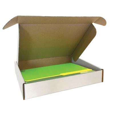"Edge 12"" x 10 1/2"" x 2 1/8"" Corrugated Shipping Boxes, White, Pack of 10 WHITE 32B 10 PER BUNDLE"