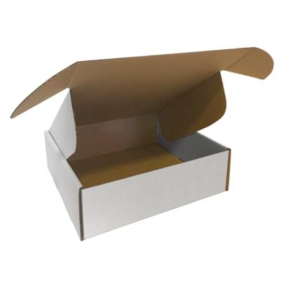 "Edge 12"" x 12 1/4"" x 3 7/8"" Corrugated Shipping Boxes, White, Pack of 10 WHITE 32B 10 PER BUNDLE"