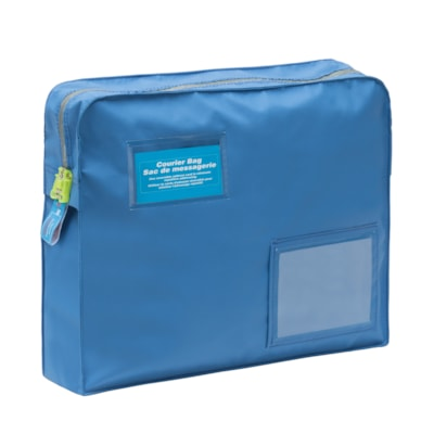 "SECURISAC Tamper Evident Courier Bag, Royal Blue, 16"" x 4"" x 12"" RED H/D TAMPER PROOF SEAL HOLDS 7 LBS"