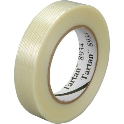 3M Tartan 8934 Filament Tape, Clear, 18 mm x 55 m