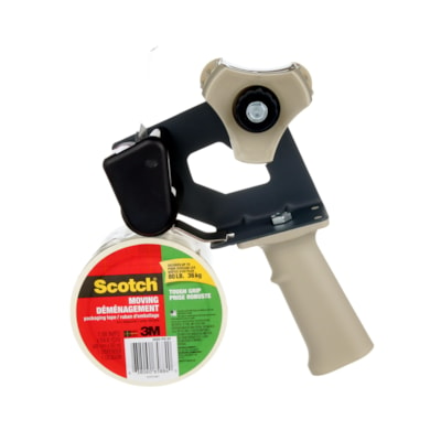 Scotch® Tough Grip Moving Packaging Tape with Dispenser, 48 mm x 50 m TOUGH GRIP DISPENSER 48MMX50M