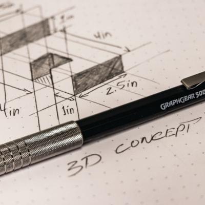 Pentel GraphGear 500 Mechanical Pencils, 0.7 mm, Blue Barrel, Box of 12 4MM METAL TIP BLUE BARREL  0.7MM