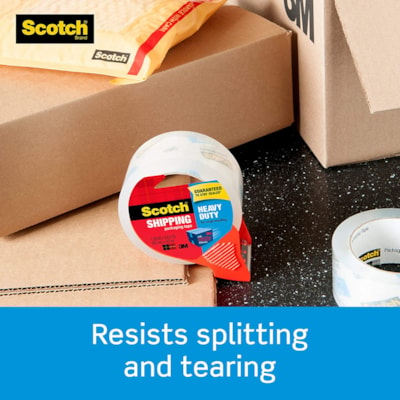 Scotch® Heavy Duty Shipping Packaging Tape, Transparent, 48 mm x 50 m, Pack of 3 Rolls SUPERIOR CLARITY 48 MM X 50 M