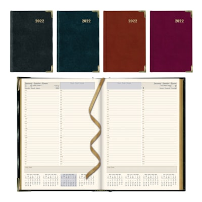 Brownline 12-Month Executive Appointment Planner, Assorted Colours, January - December, Trilingual ASST'D BLK BURGUNDY TRILINGUAL 50% PCW