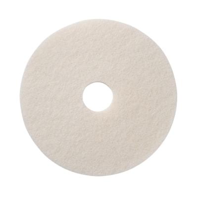 "Americo Super Floor Polishing Pads, White, 17"", Case of 5 AMERICO  FLOOR PADS"