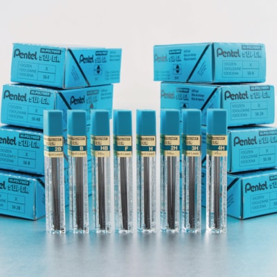 Pentel Super Hi-Polymer Lead Refills for Mechanical Pencils, HB Grade, 0.7 mm, Pack of 12 leads LEADS SUPER HI-POLYMER PENTEL 12/PK
