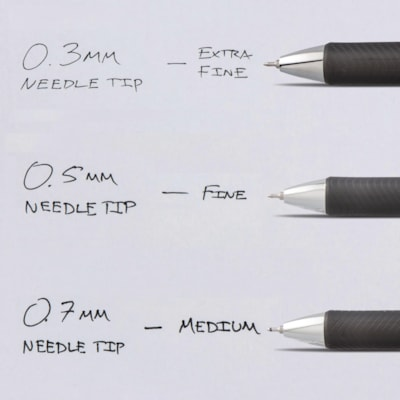 Pentel EnerGel Retractable Liquid Gel Rollerball Pen, Black, Fine 0.5 mm ROLLER BALL PENS