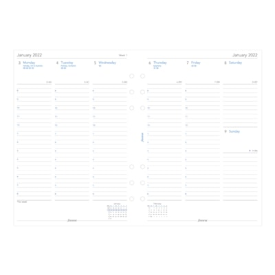 """Filofax 12-Month Weekly A5-Size Planner Refill, 5 3/4"""" x 8 1/4"""", January - December, English WEEK TO VIEW  VERTICAL A5 SIZE  ENGLISH"""