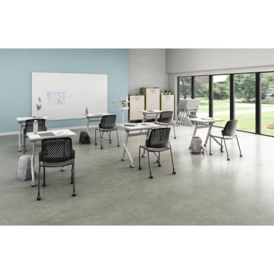 """Safco Learn Nesting Rectangle Desk with Dry-Erase Top, White, 28"""" x 22 1/4"""" x 29 1/2"""" DRY ERASE TOP"""