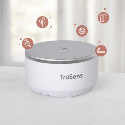 TruSens Z-3500 Smart Air Purifier with Air Quality Monitor, Large WITH SENSORPOD - LARGE ROOM 10 X 10 X 28 IN - WHITE