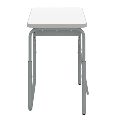 """Safco AlphaBetter® 2.0 Height-Adjustable Student Desk with Book Box and Pendulum Bar, White Dry-Erase Surface Top, 27 3/4"""" x 19 3/4"""" x 22""""-30"""" HEIGHT   ADJUSTABLE DRY ERASE TOP"""