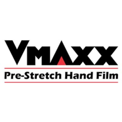 "Malpack V-Maxx Pre-Stretch Hand Film, 18"" x 1,476', Carton of 4 Rolls STANDARD 4 ROLLS/CASE"