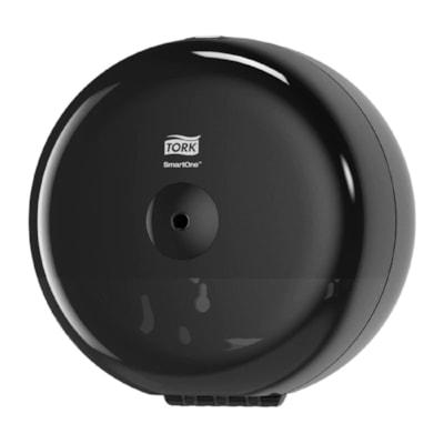 Tork SmartOne Mini Toilet Paper Roll Dispenser, Black TOILET ROLL DISPENSER P/E BLK DISPENSER