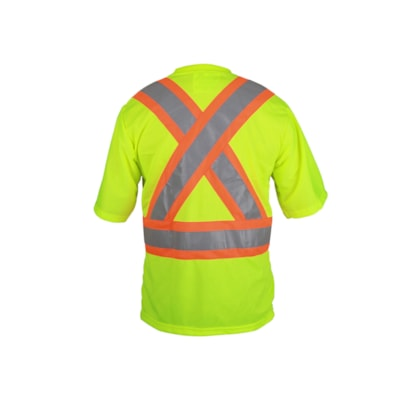 Viking CSA Approved Large Polyester Safety Green T-Shirt CLASS 2 LEVEL 2 CREWNECK POLYESTER