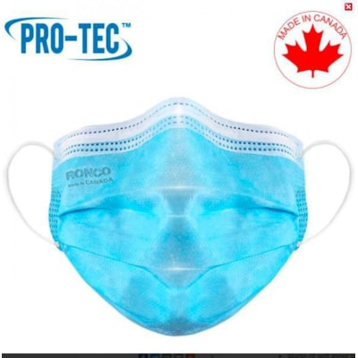 Masques plissés 3 plis PRO-TEC, niveau 2 de l'ASTM, boîte de 50 BOX OF 50