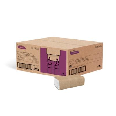 Essuie-mains plis multiples Select Cascades PRO, blanc, emb. de 250, caisse de 16 9.1 X 9.5  WHITE CASCADES PRO SELECT