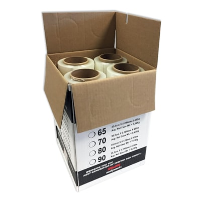 "Malpack Platinum Max Hand Wrap, Clear, 14"" x 1,476', 80 Gauge, Carton of 4 Rolls  PLATINUM MAX HAND WRAP 4/CS"