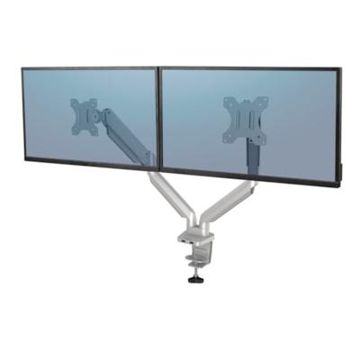 Fellowes Platinum Series Dual Monitor Arm, Silver SILVER - DESK MOUNT