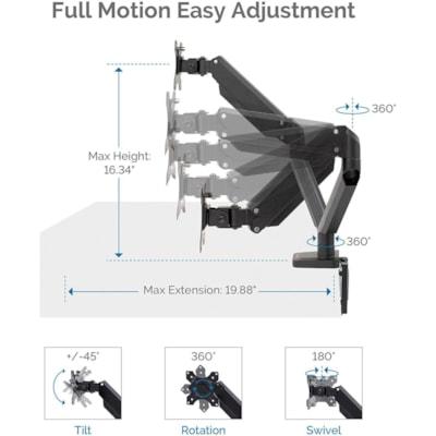 Fellowes Platinum Series Dual Monitor Arm, Black DESK MOUNT
