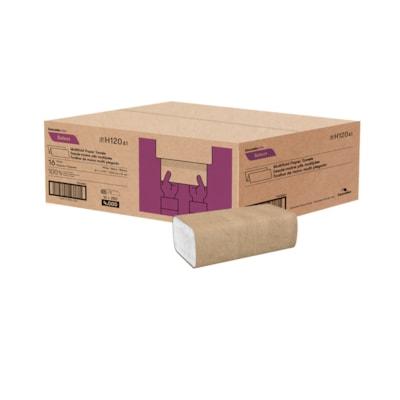 """Cascades PRO Select Essuie-mains plis multiples, blanc, 250 essuie-mains/emb., carton de 16 MULTIFOLD PAPER TOWEL 16/CTN 100% RECYCLED  8.1"""" X 9.45"""""""