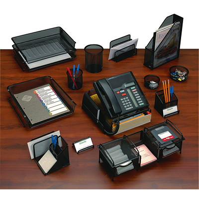 Rolodex Expressions Mesh Self-Stacking Tray ELDON SELF STACKING FRONT LOAD 14-3/8X10-1/2X2-7/8