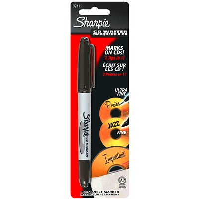 Sharpie CD/DVD Permanent Markers FINE FOR CD AND JEWEL CASES