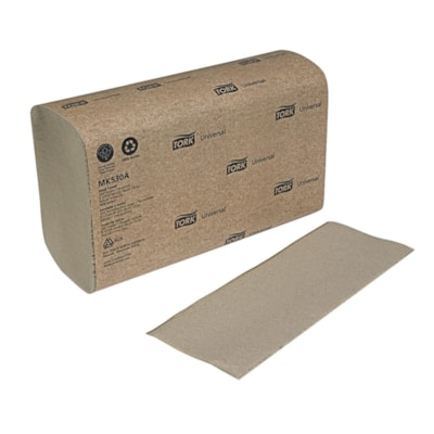 """Tork 1-Ply Universal 3-Panel Multifold Hand Paper Towels, Natural, Pack of 250 Sheets, Carton of 16 250PK/ 91/2"""" X 91/8"""""""