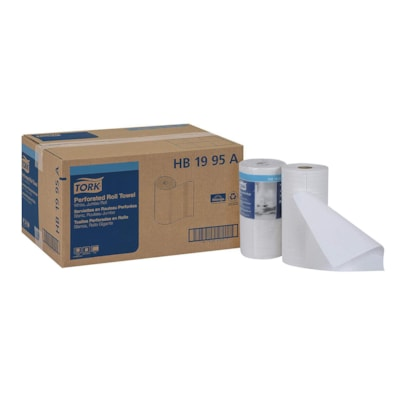 Tork 2-Ply Universal Perforated Hand Paper Towels, White, Roll of 210 Sheets, Case of 12 KITCHHEN ROLL TOWELS  2-PLY 210 CT 9X11  WHITE