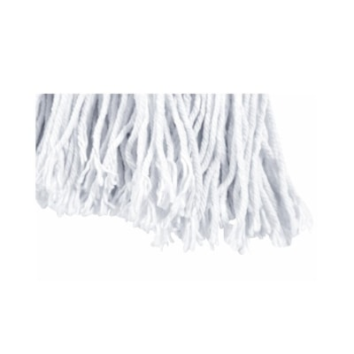 Globe Commercial Products Synthetic Rayon Mop with Cut Ends, 24 oz QUAD CORE STITCHING 4-PLY YARN AND TRUE WEIGHT MOP